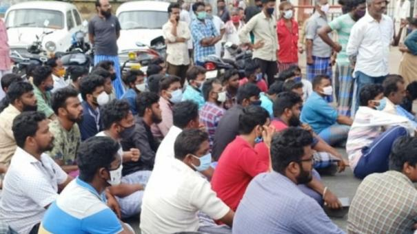 palani-youth-dies-by-suicide-relatives-stage-protestors