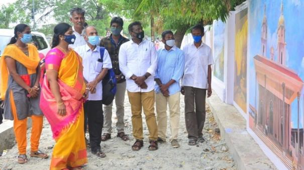 nellai-collectorate-compound-wall-gets-new-look