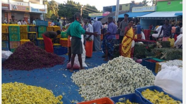 towalai-flower-market-weeded-before-the-armed-puja-after-the-corona-curfew-the-price-of-flowers-skyrocketed