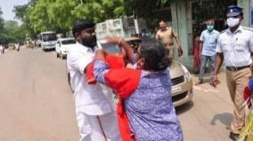 vck-bjp-clash-in-madurai-50-arrested