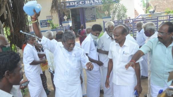 karaikudi-pachayat-leader-try-to-self-immolate