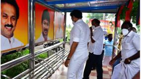 aiadmk-urges-to-remove-udayanidhi-photo-in-bus-stand