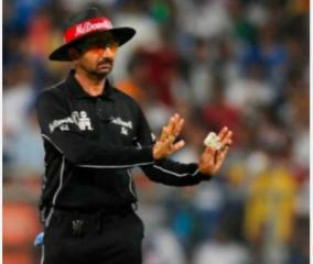 ipl-2020-david-warner-umpire-anil-chaudhary-delhi-capitals-srh