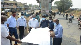 rs-121-crore-ukkadam-flyover-work-coimbatore-collector-personally-inspected
