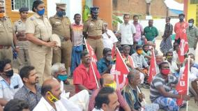 sankarankoil-cpi-m-conducts-protest