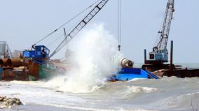 pamban-rough-seas-delay-rail-works