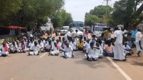 kaalayarkoil-villagers-protest-due-to-transformer-issue