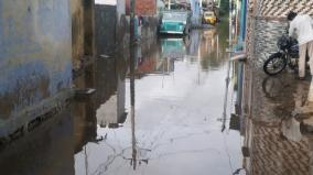 nellai-public-protest-due-to-water-log-in-residential-area