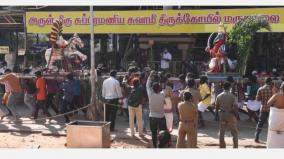 sura-samharam-at-marudhamalai-subramania-swamy-temple-lord-murugan-killed-suran-without-devotees