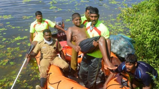 kanyakumari-fire-department-holds-rehearsal-in-tackling-floods