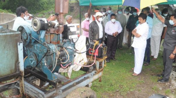 Minister CV shanmugam inspection in villupuram