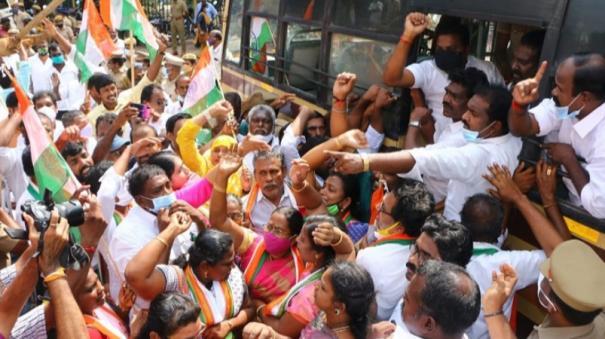 congress-protest-in-kanyakumari-3-mla-s-arrested