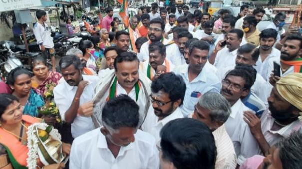 bjp-begins-campaign-in-madurai-north