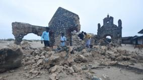 dhanuskodi-church-compound-gets-dilapidated-in-cyclone