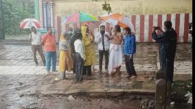 special-officer-rajesh-inspects-areas-including-chidambaram-natarajar-temple-where-rainwater-has-accumulated