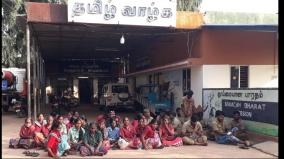cleaners-sit-in-protest-in-vadalur-municipality-impact-of-garbage-disposal-work