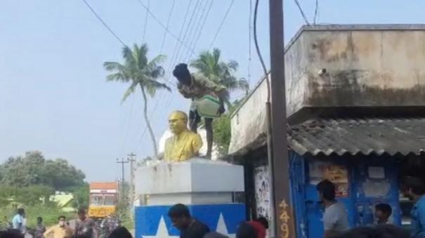 ambedkar-statue-vandalised