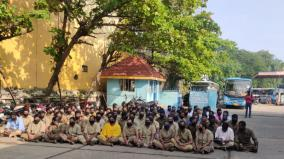 contract-workers-strike-local-government-buses-not-running-in-puthuvai