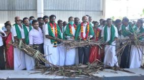commencement-of-sugarcane-crushing-work-at-vellore-co-operative-sugar-mill-measures-to-generate-10-mw-of-electricity-per-day