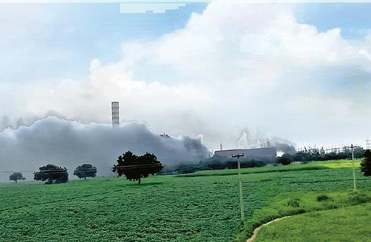 fire in thermal station