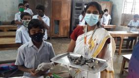 reopening-of-schools-in-karaikal-teachers-welcome-students-with-sweets