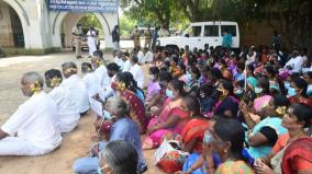 ramnad-village-people-protest-seeking-closure-of-club