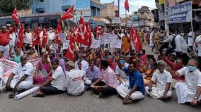 citu-protest-in-tenkasi-115-arrested