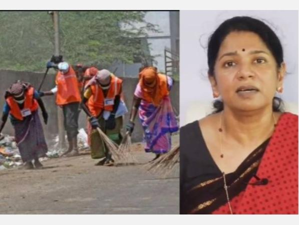 is-this-the-gratitude-shown-to-those-who-worked-in-corona-700-cleaners-fired-in-chennai-kanimozhi-condemned