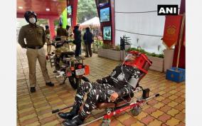 crpf-drdo-launches-bike-ambulance-rakshita