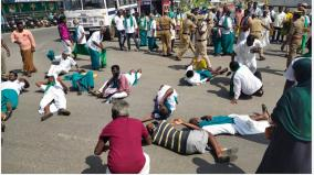 farmers-petition-for-mgr-statue-in-trichy-arrested-for-road-blockade