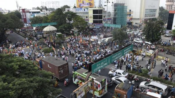 bjp-protests-over-burning-congress-election-manifesto