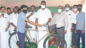 free-bicycles-for-1-83-lakh-students-worth-rs-63-86-crore-in-last-9-years-minister-velumani