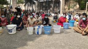 raja-muthiah-medical-college-students-struggle-with-empty-buckets-tension-as-student-fainted