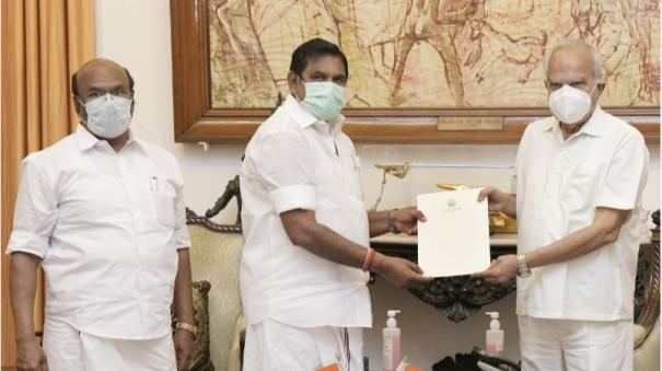 7-released-chief-minister-palanisamy-s-sudden-meeting-with-the-governor