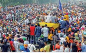 farmers-protest-union-leaders-observe-day-long-fast-on-mahatma-gandhi-s-death-anniversary