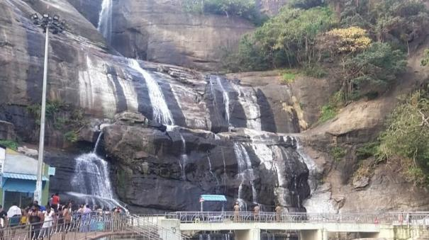 courtallam-was-weeded-out-due-to-low-water-levels-in-the-falls