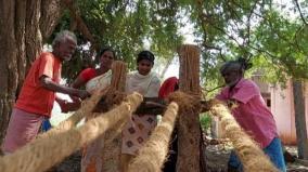 singampunari-coir-making-work-begins-after-one-year