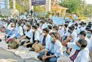 perundurai-medical-college-students-protest-for-9th-day-demanding-reduction-of-tuition-fees