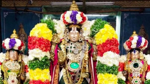 brahmotsavam-flag-hoisting-at-karaikal-nithya-kalyana-perumal-temple