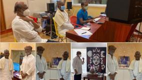 rajini-visits-ilayaraja-studio