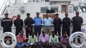 indian-coast-guard-rescues-5-fishermen-after-boat-capsizes