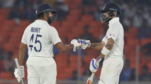 ind-vs-eng-3rd-test-kohli-departs-but-rohit-hits-fifty-as-hosts-maintain-advantage