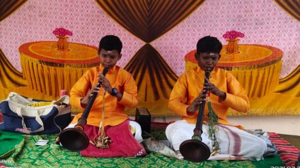 government-school-students-learnt-nathaswaram-on-corona-holiday