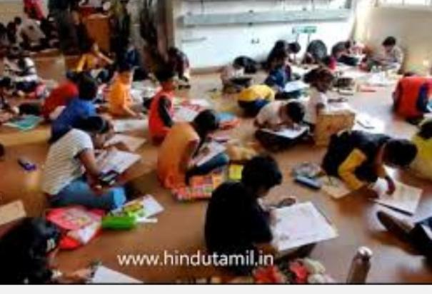 painting-competition-for-9th-class-students-at-government-museum-chennai