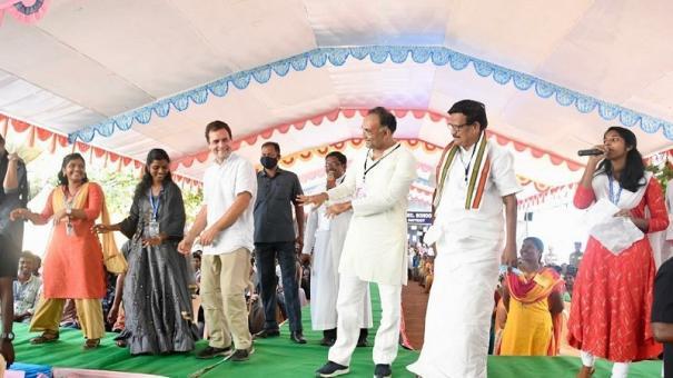 Rahul Gandhi participates with enthusiasm