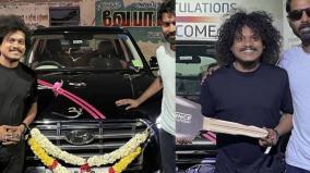 vijay-tv-pugazh-new-car