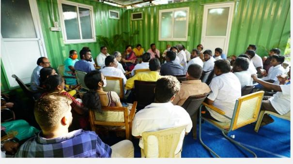 election-workshop-set-up-by-khushbu-like-a-cinema-set-are-you-sure-of-contesting-in-chepauk