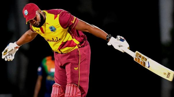 Pollard hits six sixes in an over as Windies beat Sri Lanka