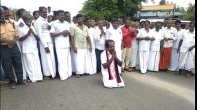 alangudi-constituency-dmk-candidate-who-touched-the-ground-and-started-campaigning