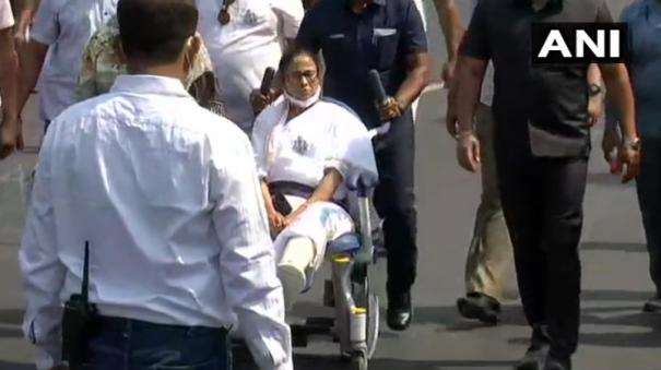 mamata-leads-tmcs-march-on-wheelchair-says-injured-tiger-more-dangerous